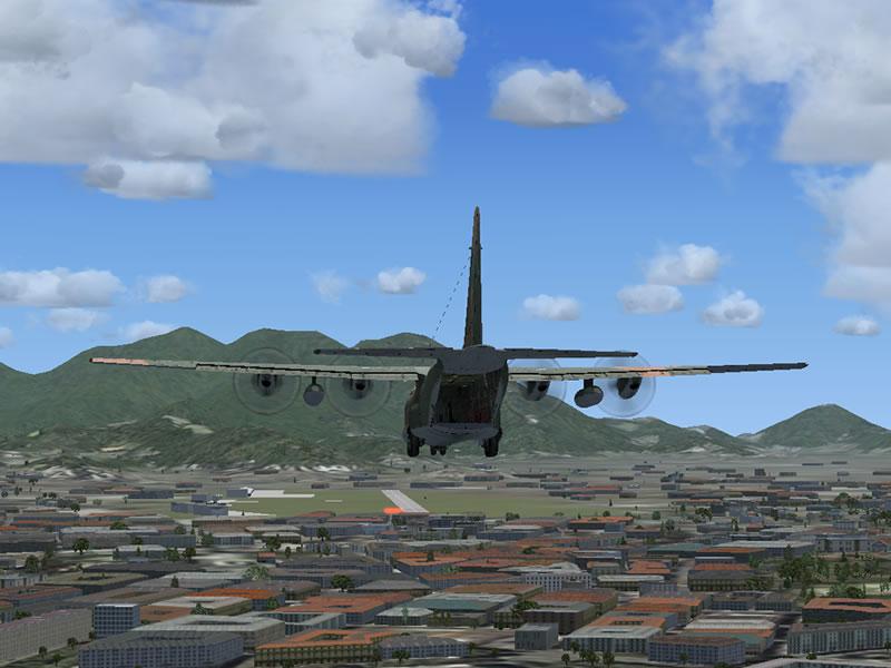 [FSX] C-130 FAB2451 - Lançamento Paraquedista, CDS e Rasante. 16