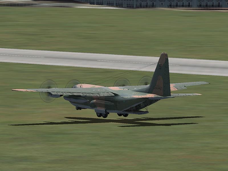 [FSX] C-130 FAB2451 - Lançamento Paraquedista, CDS e Rasante. 17