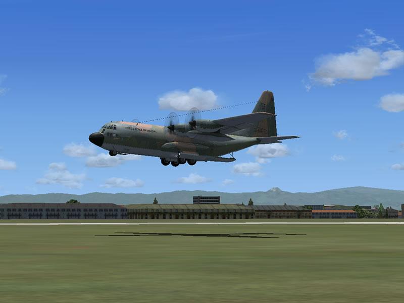 [FSX] C-130 FAB2451 - Lançamento Paraquedista, CDS e Rasante. 18