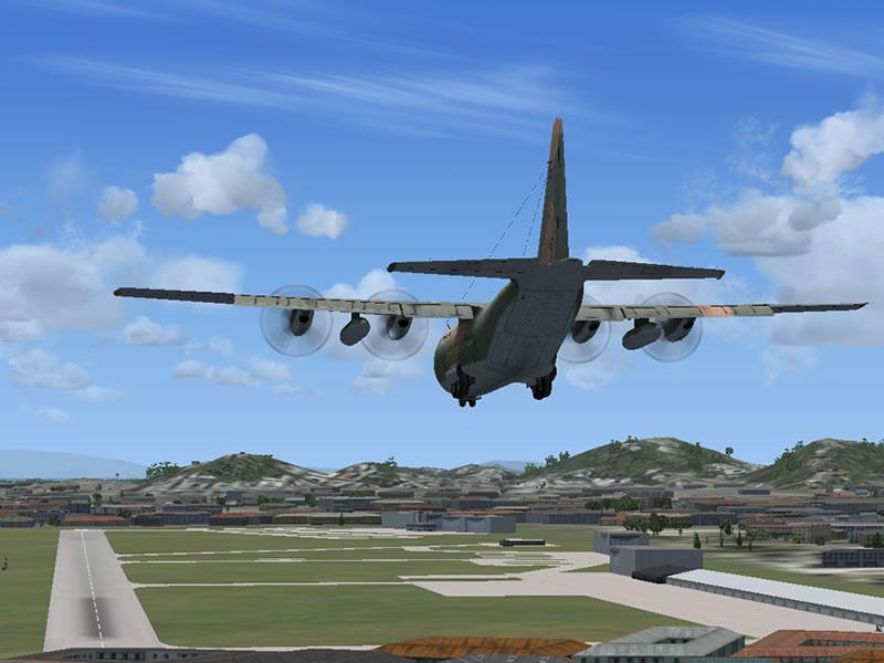 [FSX] C-130 FAB2451 - Lançamento Paraquedista, CDS e Rasante. 19