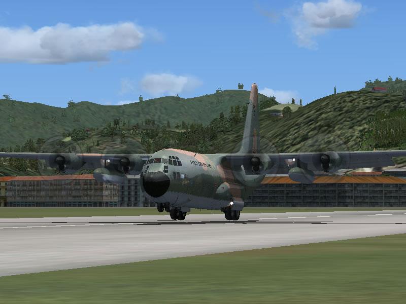 [FSX] C-130 FAB2451 - Lançamento Paraquedista, CDS e Rasante. 20