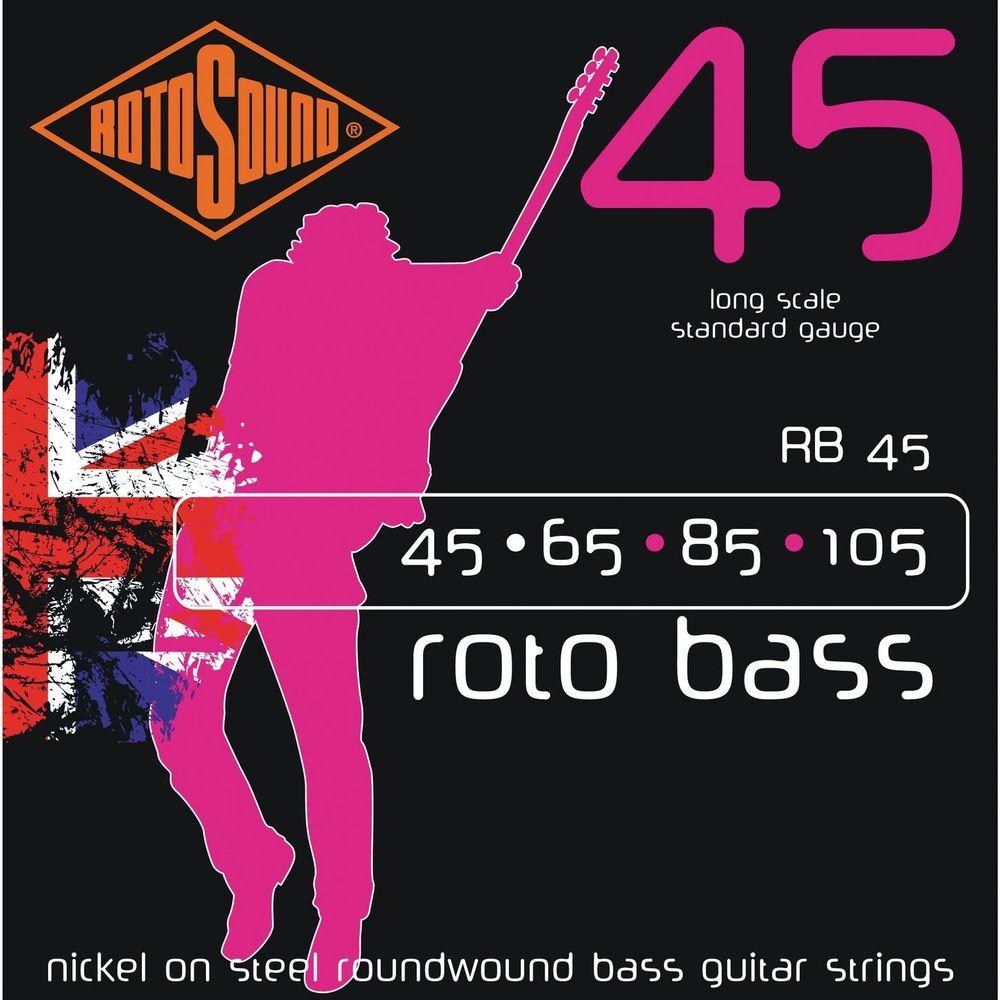 Encordoamento - Acabamento de Seda (Silk Wrap Ends) Encordoamento-baixo-4-cordas-rotosound-rb45-roto-bass-pink-45-65-85-105-1