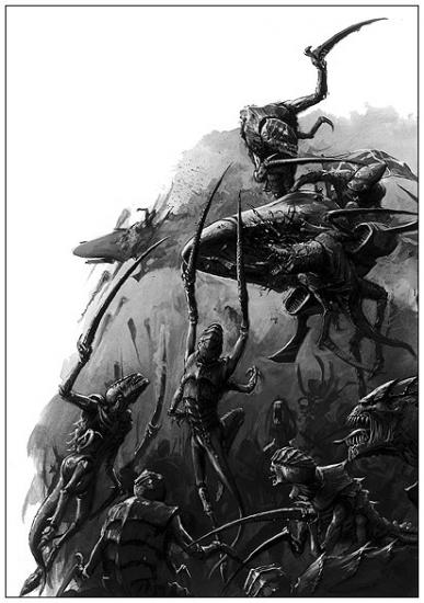 [W40K] Collection d'images : les Xenos - Page 2 88419239tyranides-5-jpg