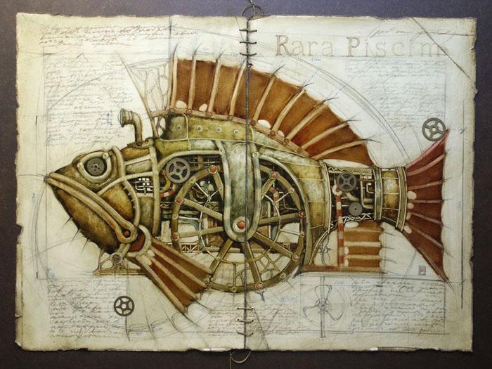 Vladimir Gvozdev - Gvozdariki : steampunk  08-fish