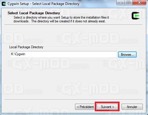 Installer l'environnement Cygwin / Kos pour Dreamcast 10