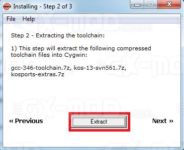 Installer l'environnement Cygwin / Kos pour Dreamcast 15