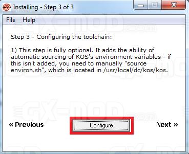 Installer l'environnement Cygwin / Kos pour Dreamcast 20