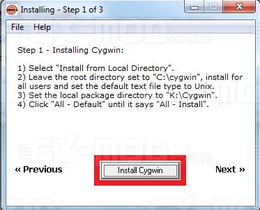 Installer l'environnement Cygwin / Kos pour Dreamcast 5