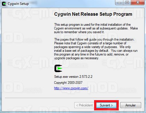 Installer l'environnement Cygwin / Kos pour Dreamcast 6