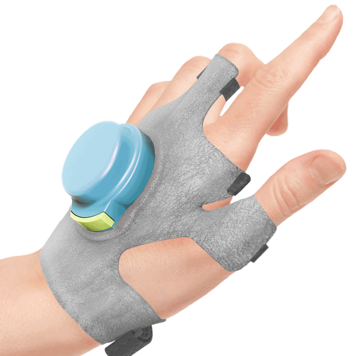 The GyroGlove seeks to restore quality of life and independence to those with tremors. HandRender-Iso_transparent_Square-700px