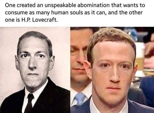 Informatique : protéger sa vie privée, ses métadonnées, et sa personnalité - Page 7 Lovecraft-zuckerberg-facebook