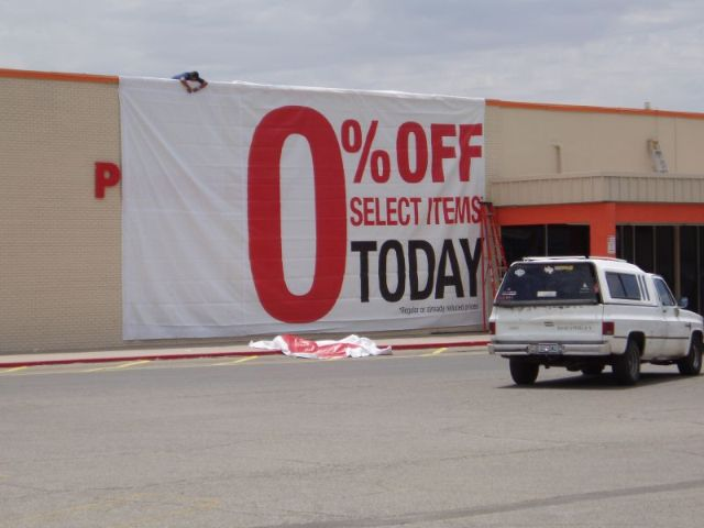 Image Wars! Funny-sign-0-percent-off