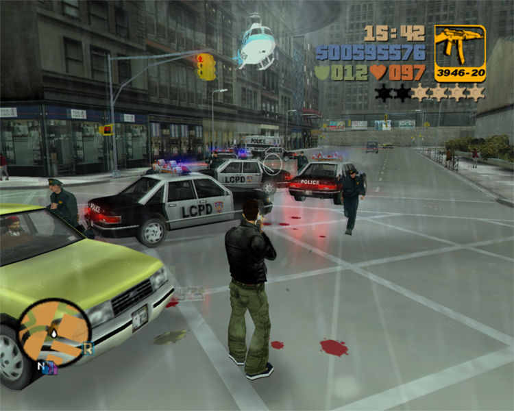 تحميل لعبة جتا 3 GTA بحجم 210 ميجا فقط grand theft auto 3  750px-gta3-pc-police