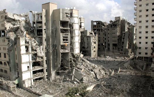 Política Interna de Lapália - Página 2 Gaza-city-destroyed-buildings