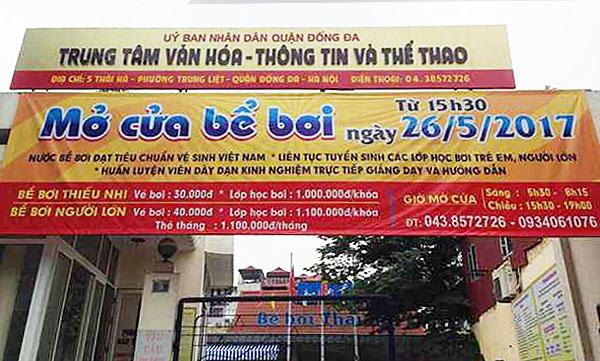 Đánh giá chất lượng nước và giá vé bể bơi Thái Hà Be-boi-thai-ha-2