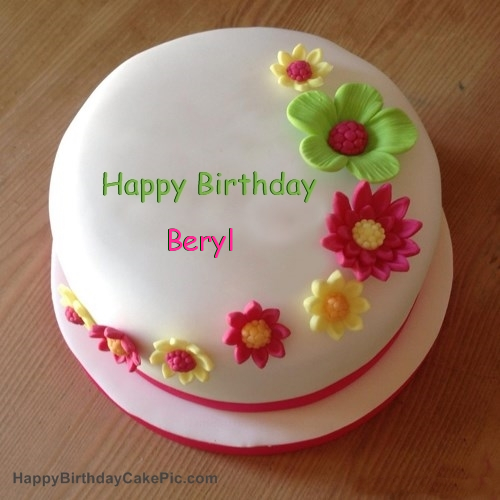 Happy Birthday, dear Beryl! Colorful-flowers-birthday-cake-for-Beryl