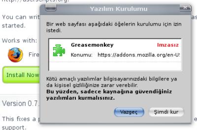 Programları Yüklemek İçin Yapılması Grekenler !! ( RESİMLİ ANLATIM ) Greasemonkey_kurulumu