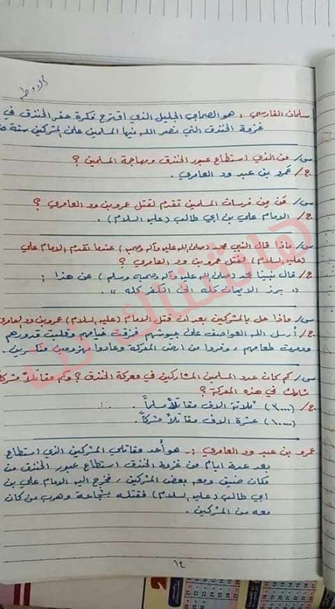 ملخص الاسلامية كامل للصف السادس الابتدائي 2019 10-2