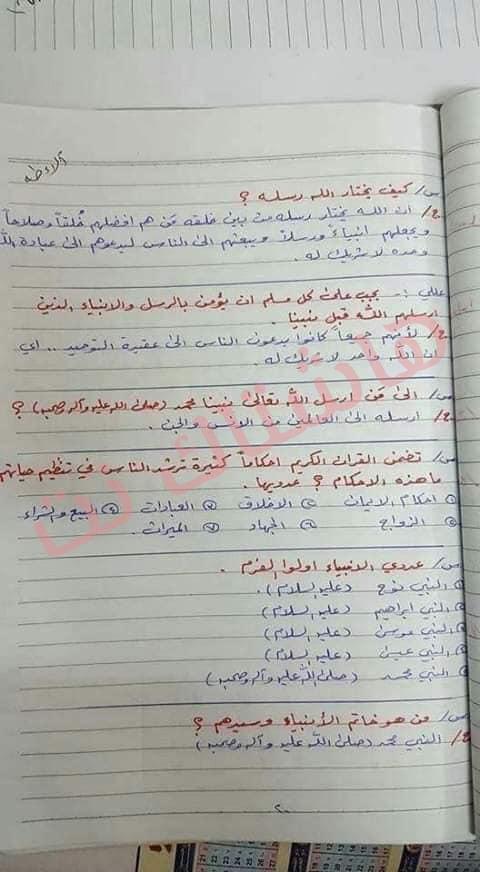 ملخص الاسلامية كامل للصف السادس الابتدائي 2019 11-2