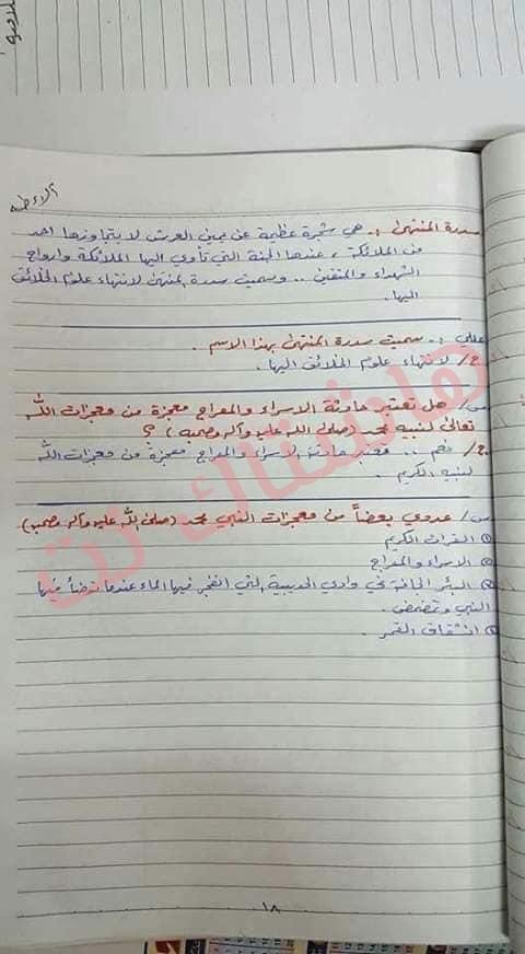 ملخص الاسلامية كامل للصف السادس الابتدائي 2019 9-2