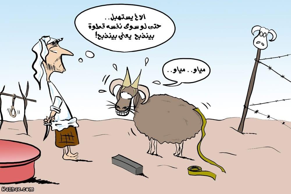 إجمل صور عيد الأضحى مضحكة Aid-Adha-Caricature-2014-Hasnae.com-9