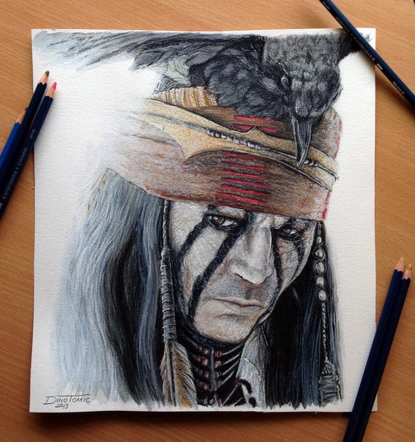 Crteži olovkom/grafika - Page 22 Johnny-depp-color-pencil-drawing