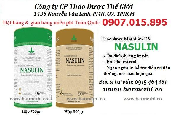 Thảo dược Methi Nasulin ổn định đường huyết, hạ cholesterol Bo%20thao%20duoc%20methi%20nasulin%20tri%20tieu%20duong