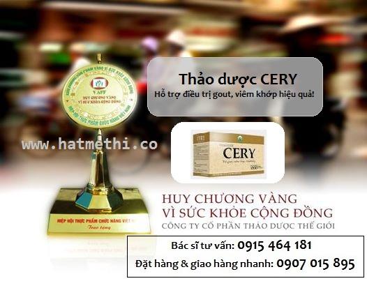 Trà thảo dược CERY trị gout, đau nhức khớp mua ở đâu Cery%20-%20huy%20chuong%20vang