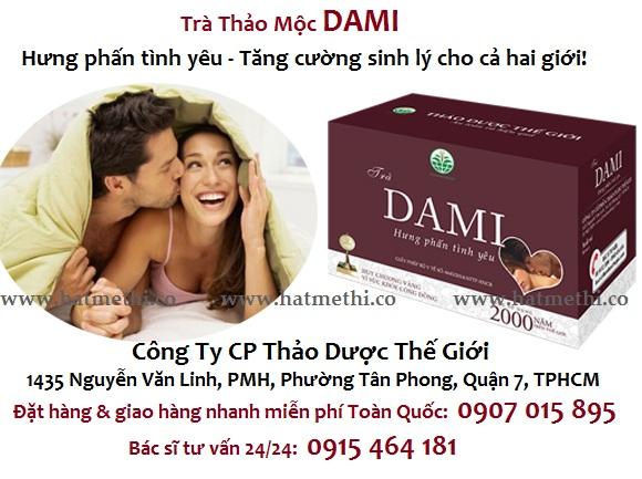 Trà Dami tăng cường sinh lực, tăng sung mãn một cách tự nhiên DAMI