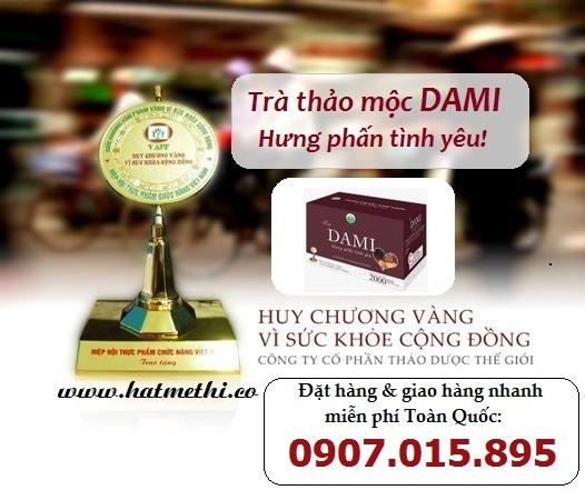 Trà Dami tăng cường sinh lực, tăng sung mãn một cách tự nhiên Dami-huy-chuong-vang