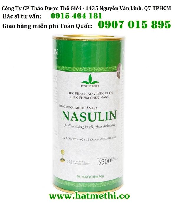 Thảo dược Methi Nasulin trị khỏi bệnh tiểu đường và mỡ máu Hop%20Thao%20Duoc%20Methi%20Nasulin%20750g%20600x700