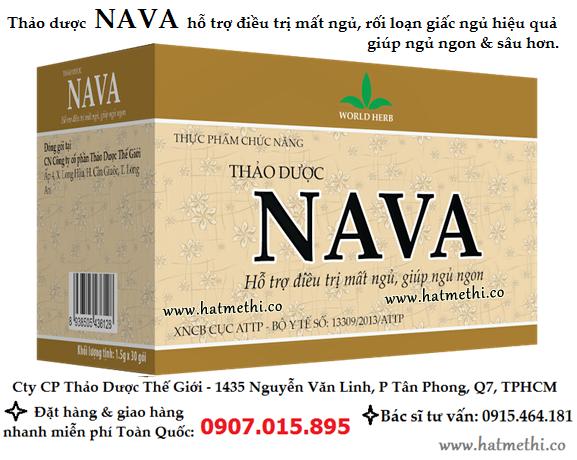 Thảo dược NAVA trị mất ngủ, giúp ngủ ngon và sâu giấc NAVA%2075gr%202016