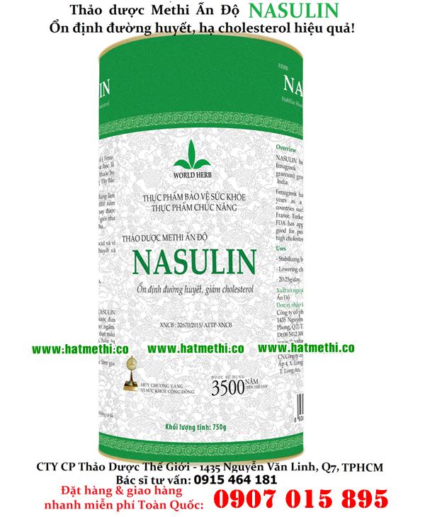Thảo dược Methi Ấn Độ Nasulin ổn định đường huyết, giảm nhanh mỡ máu Nasulin%20750%20Sendo