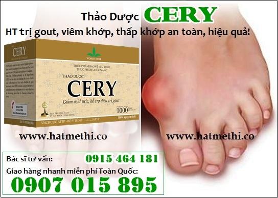 Thảo dược CERY trị gout, tăng cường sức khỏe xương khớp Cery%20tri%20gout%201