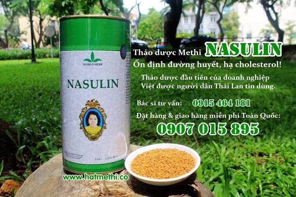 Thảo dược Methi Nasulin chữa hiệu quả bệnh tiểu đường, mỡ máu Nasulin%20thai%202%20600x400