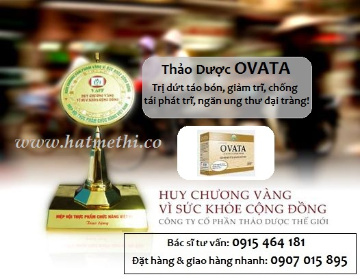 Thảo dược OVATA trị nhanh táo bón & bệnh trĩ Ovata%20-%20huy%20chuong%20vang