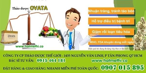 Thảo dược OVATA trị táo bón, trĩ, ruột kích thích đảm bảo khỏi bệnh Ovata%2012