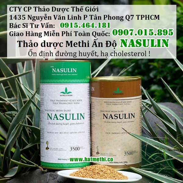 Thảo dược Methi Nasulin giải pháp điều trị tiểu đường, mỡ máu tại nhà Thao-duoc-methi-nasulin%20600X600