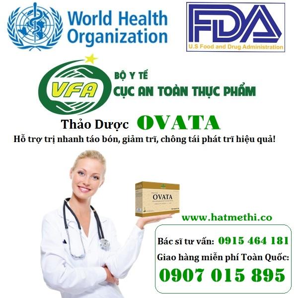 Vỏ hạt mã đề OVATA phòng ngừa và điều trị táo bón, trĩ Thao_duoc_ovata_fda_who