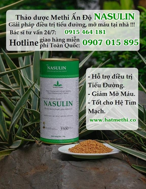 Chữa dứt tiểu đường và mỡ máu bằng Thảo Dược Methi Nasulin Thaoduocmethiandonasulin%20575x740