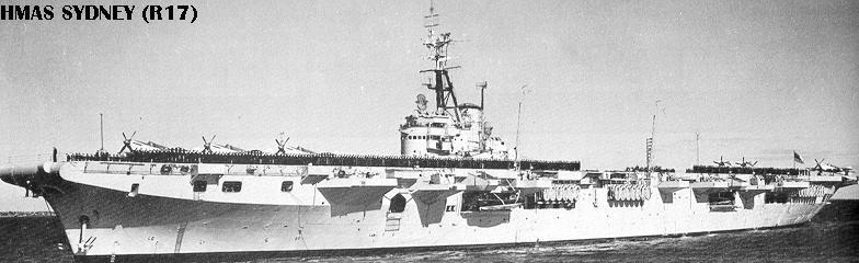 Historique des porte-avions australiens R17-1