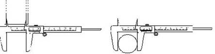 قياس الأبعاد باستخدام القدمة ذات الورنية فيزياء الصف الاول الثانوى المطور 2014  Vernier12