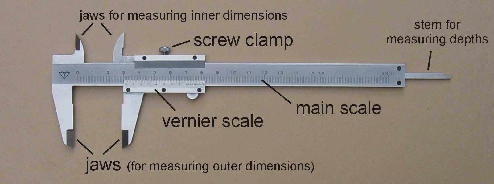 قياس الأبعاد باستخدام القدمة ذات الورنية فيزياء الصف الاول الثانوى المطور 2014  Vfig03a