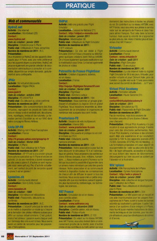 L'Annuaire de la Simulation voilà c'est fait, la PAF y est :) PAF