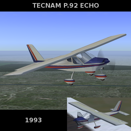 Tecnam-P92-Echo P92-splash