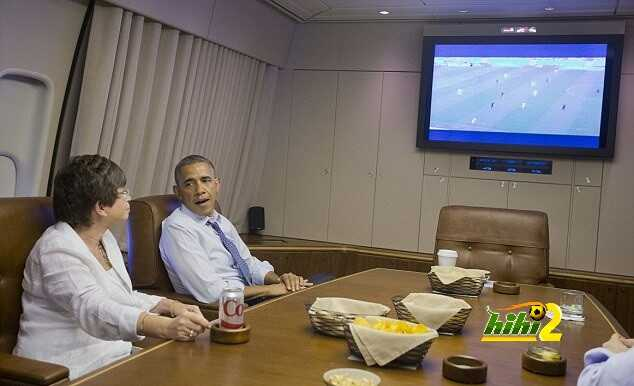 الرئيس الامريكي يشاهد مباراة منتخب بلاده Article-2671227-1F28DD6E00000578-871_634x402