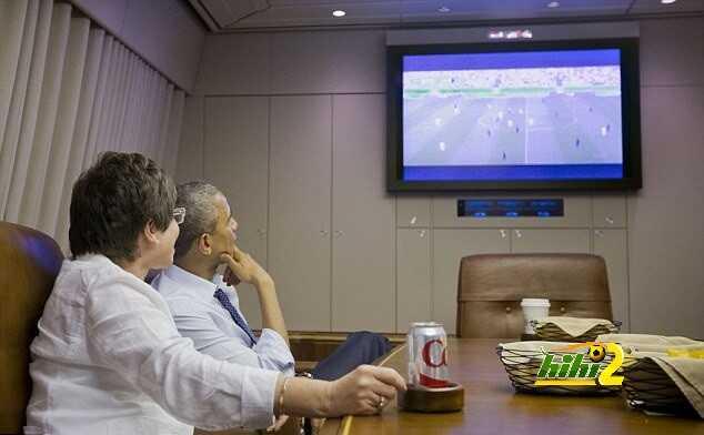 الرئيس الامريكي يشاهد مباراة منتخب بلاده Article-2671227-1F28DE3A00000578-908_634x407