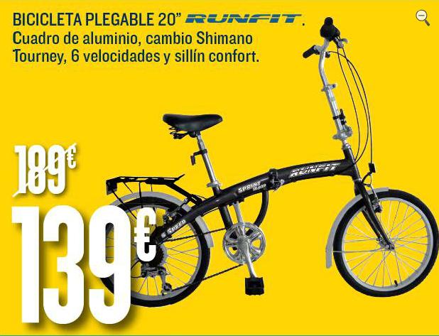 """Vendo plegable+Motor Mxus 20"""" Hipercor-bicicletas"""