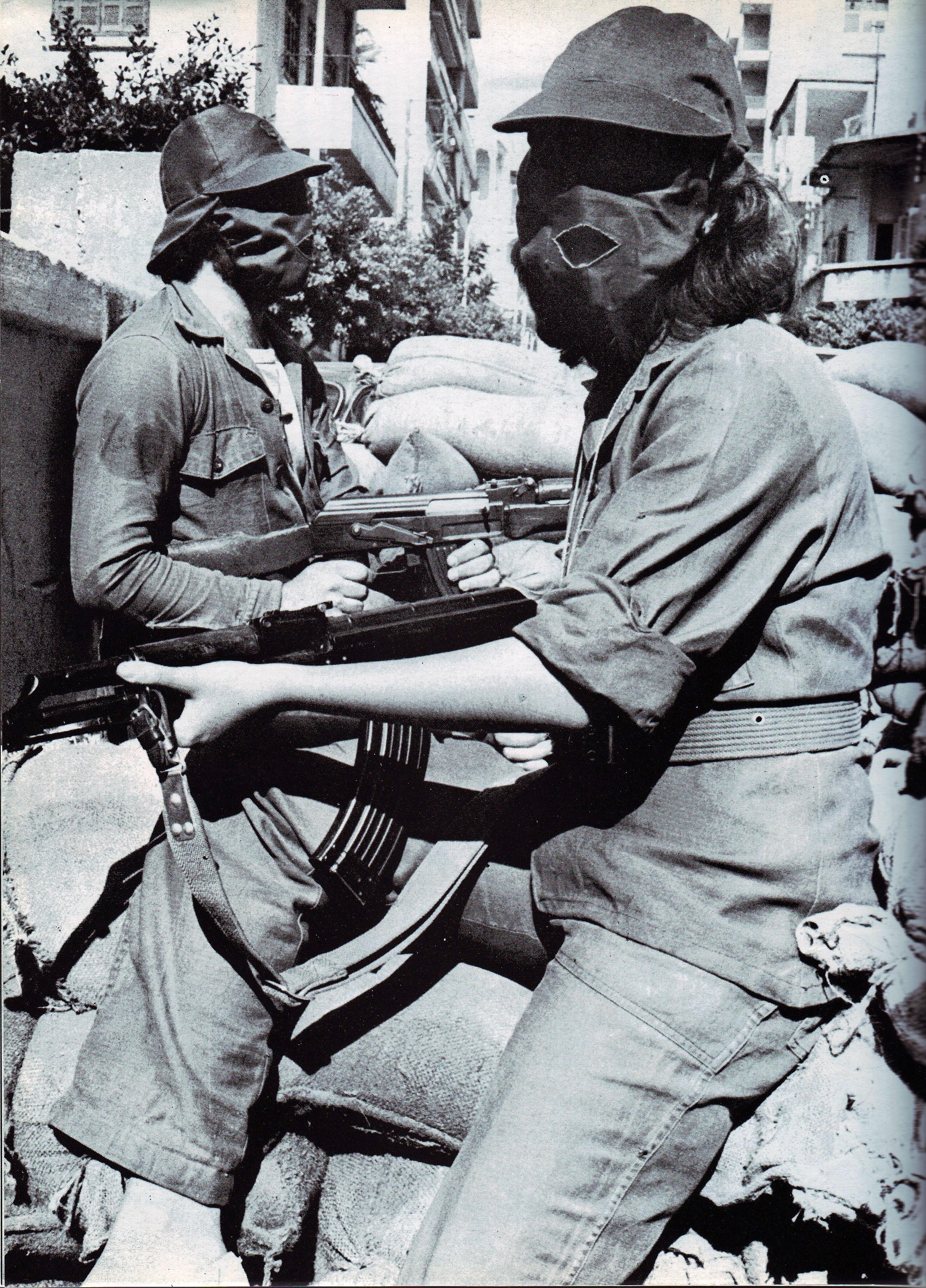 scènes de combat (armée libanaise, palestinien, chrétien...) 1975-nizamiyyet