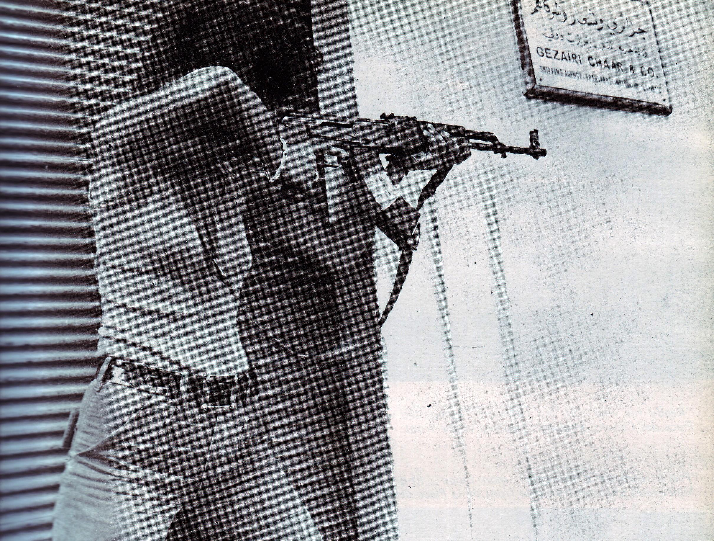 scènes de combat (armée libanaise, palestinien, chrétien...) 1975-nizamiyyet1